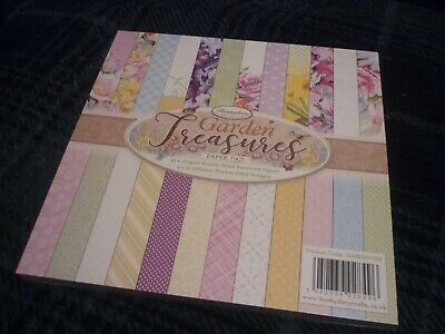 "Hunkydory 8"" X 8"" Double Sided Paper Pad Garden Treasures 48 Pages New & Sealed"