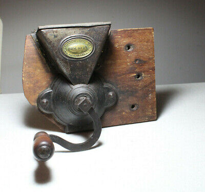 Antique Hand-Crank Old Coffee Grinder G&L Dart & Co. New-London