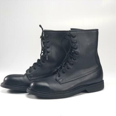 3797a9f0f6953 WOLVERINE COMBAT BOOTS 9.5 R Steel Toe Black Leather Military ANSI ...
