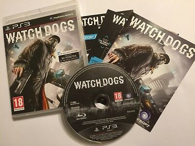 Ps3 Playstation 3 Game Watchdogs 1 Watch Dogs I Boxed Pal Tested & Gwo