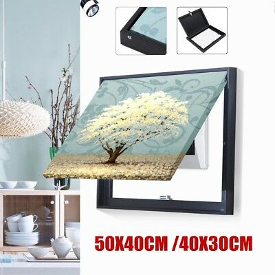 Framed Electric Meter Shield Canvas Art Oil Painting Picture Home Wall Decor