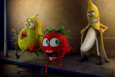 FUNNY FRUITS on the steet POSTER 61x91CM (24x36inch)