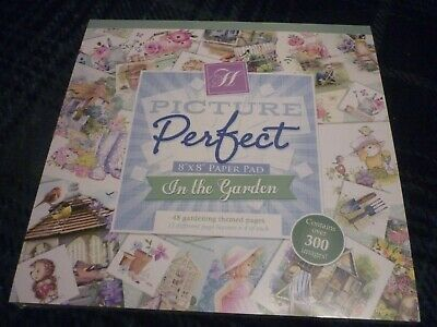 "Hunkydory Picture Perfect 8"" X 8"" Paper Pad In The Garden 48 Pages New & Sealed"