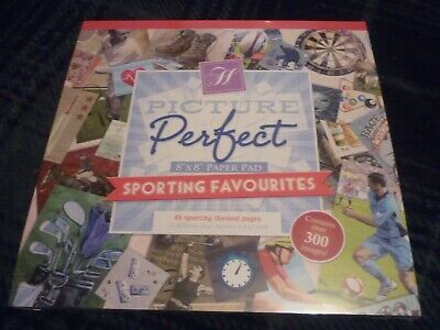 "Hunkydory Picture Perfect 8"" X 8"" Paper Pad Sporting Favourites 48 Pages Sealed"