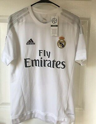 b8f3bcadb40 Adidas Fly Emirates Real Madrid Ronoldo  7 Jersey Mens Size Small New With  Tags