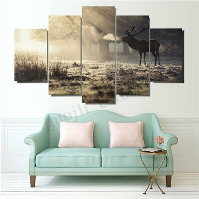 Huge Modern Elk Art Oil Paintings Canvas Print Wall Unframed Pictures Home Decor