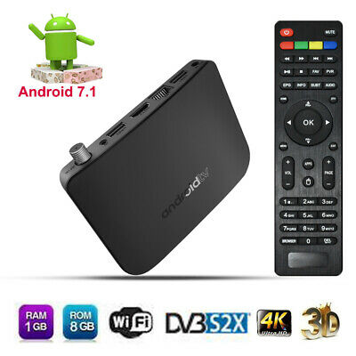 M8S Plus 1+8G Android7.1 Quad core 4K Smart TV BOX Media Player DVBS/S2/S2X L8B0