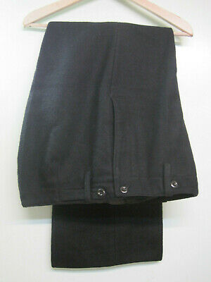 Trousers. Soviet Russian USSR Navy Black Thick Wool Pants.