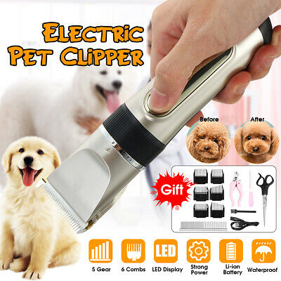 Rechargeable Electric Animal Pet Dog Cat Hair Trimmer Shaver Razor Groom Clipper