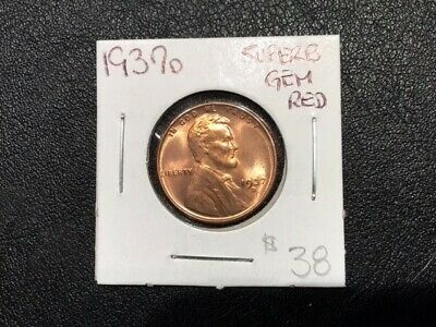 1937-D Superb Gem BU Lincoln Wheat Cent Penny PCGS MS66RD Red 1c