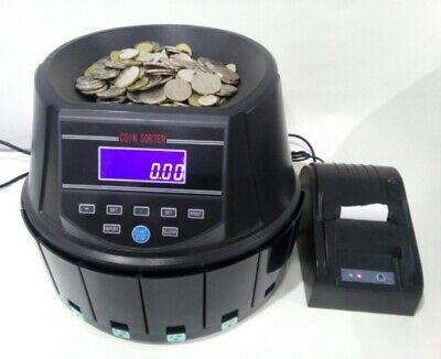 Auscount Commercial Coin Counter Aus960 With Printer Extra Quick
