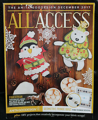 Anita Goodesign All Access Embroidery December 2017 Tutorial with CD ,unopened