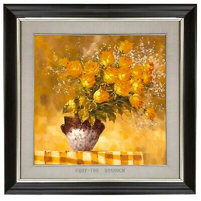 Original Chinese Oil Painting a Vase of Flowers 80x80CM #785