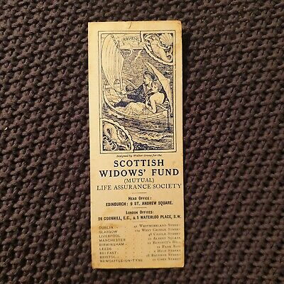Scottish Widows' Fund Bookmark - Walter Crane - August 1913