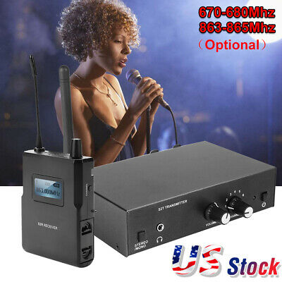 Wireless UHF In-Ear Monitor System Stereo 670-680Mhz/863-865Mhz  For ANLEON S2