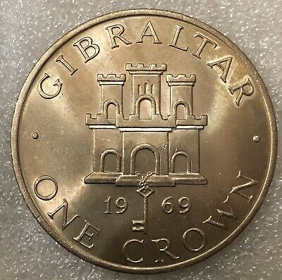 Gibraltar 🇬🇮 One Crown Coin, Uncirculated, Free Combined Shipping