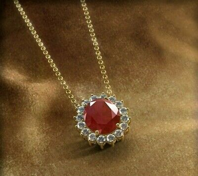 Jewellery Women 5 61 Carat Natural Red Ruby And Diamond 14ct