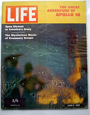 Life magazine UK ed 9 June 1969 NASA Apollo 10 ten astronauts Dylan Sophia Loren