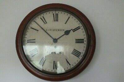 Christensen Cowes Isle Of Wight Sigle Chain Fusee Station Dial Wall Clock