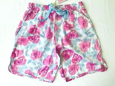 New Peter Alexander Womens Floral Shorts Size Xs Pink Blue White