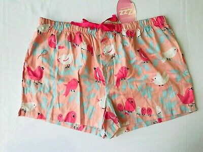 New Peter Alexander Womens Little Birdie Shorts Size Large L