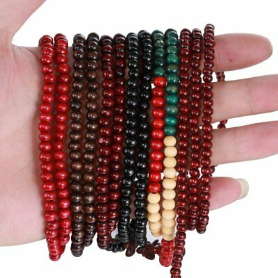 Sandalwood 108 6MM Buddhist Prayer Beaded Mala Necklace Bracelet Strand Wrist