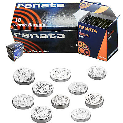 2 x Renata Watch Battery Swiss Made Silver Oxide Batteries