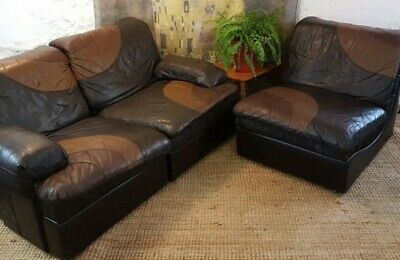 vintage Modular Sofa from UBU, 1970s 6 sectional pieces - leather