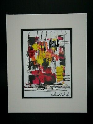 Quebec Canada Listed Artist Signed Roland Delisle Abstract Painting
