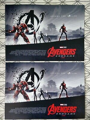 2x Marvel Avengers Endgame ODEON A3 Poster 2/2 Matt Ferguson, Captain Antman