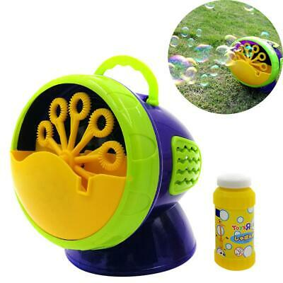 Automatic Bubble Blower Blowing Maker Machine for Kids Party 500 Bubbles/Minute