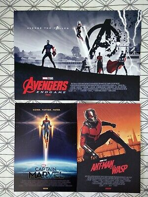 Marvel Avengers Endgame ODEON A3 Poster 1/2 Matt Ferguson, & A4 Captain Antman