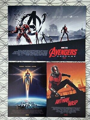 Marvel Avengers Endgame ODEON A3 Poster 2/2 Matt Ferguson, & A4 Captain Antman