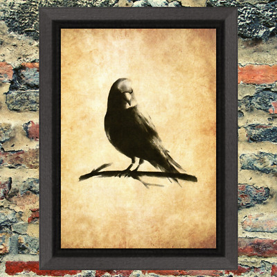 Raven Familiar Occult Witch Art Print Antique Effect Paper Buy 2 Get 1 Free