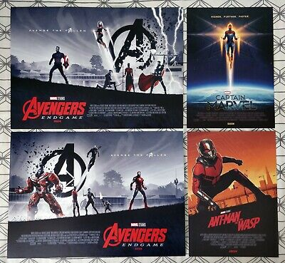 Marvel Avengers Endgame ODEON A3 Poster BOTH 1 & 2, & A4 Captain Marvel & Antman