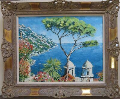WILLIAM FOREMAN (1939-) ITALIAN large Impressionist ORIGINAL OIL PAINTING Maiori