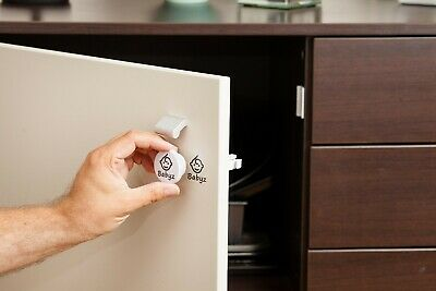 Invisible Magnetic Baby, Child Safety Cupboard and Drawer Lock set with adaptor