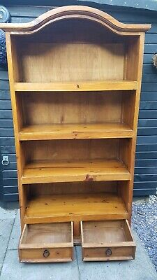 Bookcase  Unusual piece solid heavy beautiful