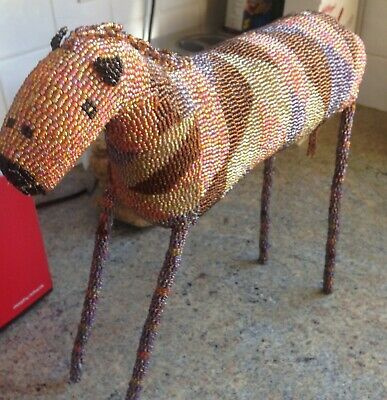 Beautiful hand crafted tall (35cm) mulit colour beaded Horse
