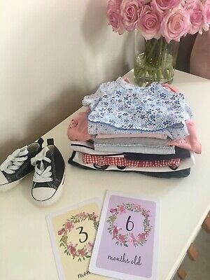 3-6 Months Baby Girl Bundle Converse,H&M,Youdu,Disney,Carrement Beau