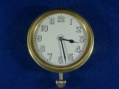 Large Sized 8 Day Travel Watch or Car Dashboard Clock in Good Working Order.