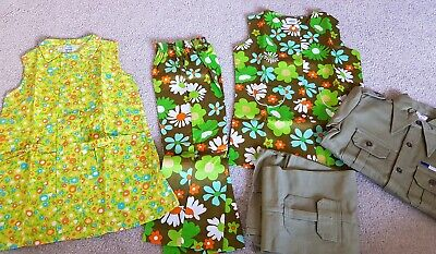vintage childrens cuckoo brand 1970s flower power clothes costumes