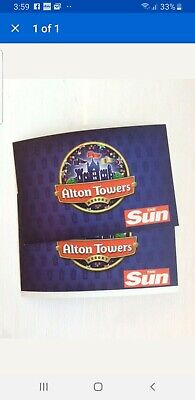 x2 Alton Towers Tickets For monday 10th June 2019 10/6/19