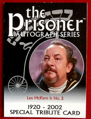 THE PRISONER Volume 1 - LEO McKERN - TRIBUTE Card - Cards Inc 2002 - PA10
