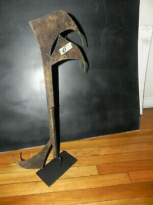 "Arts of Africa - Lega Weapon W Custom Stand  - DRC - Congo 27"" Height x 12"" Wide"
