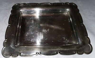 Fine quality antique silver plated calling card tray