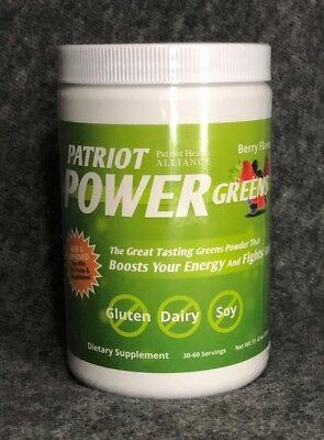 Patriot Power Greens Berry Flavor 30-60 Serving !New & Sealed!