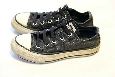 Converse Sparkly black girls trainers size 11.5/29