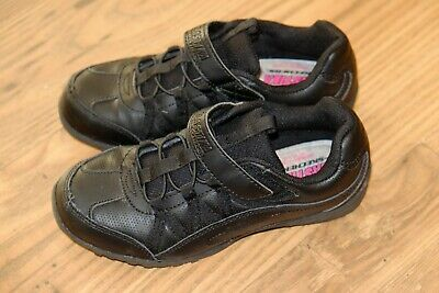 Skechers Black leather girls shoes/trainers size 13/32 RRP £50 Used twice