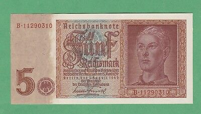 Germany 5 Reichsmark  Note P-186   UNCIRCULATED